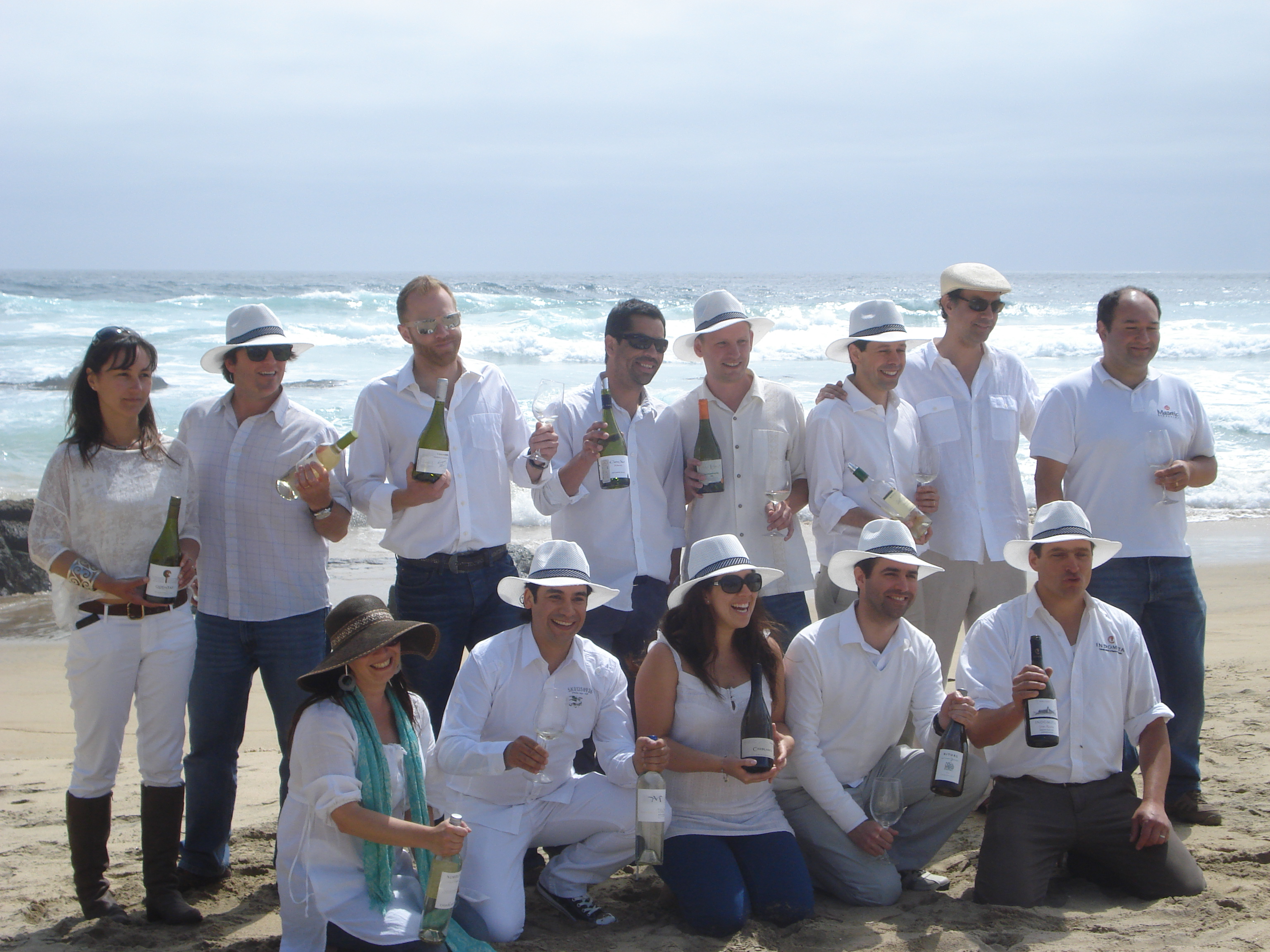 Alejandra, front middle, Kingston Family Vineyard's Assistant Winemaker joins other winemakers from Casablanca Valley.