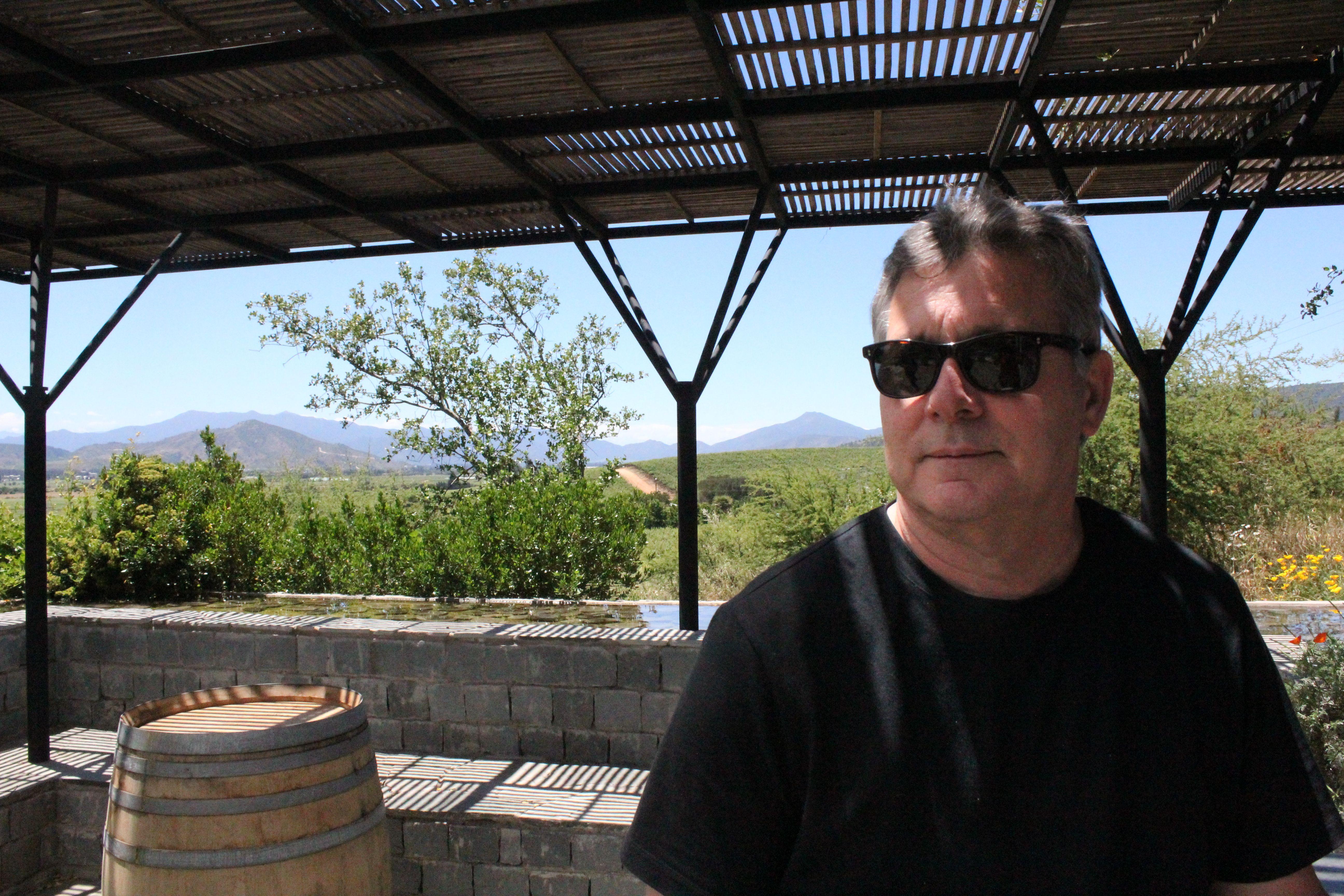 Rex Pickett on Kingston's tasting terraza