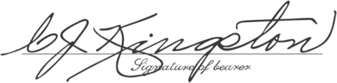 The signature of my great-grandfather, Carl John Kingston
