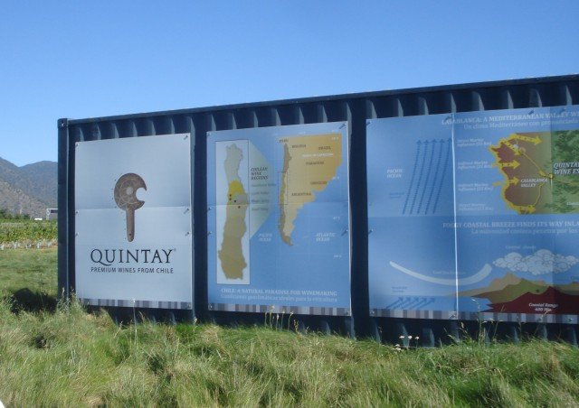 The first stop on the Quintay tour in and around the bodega.