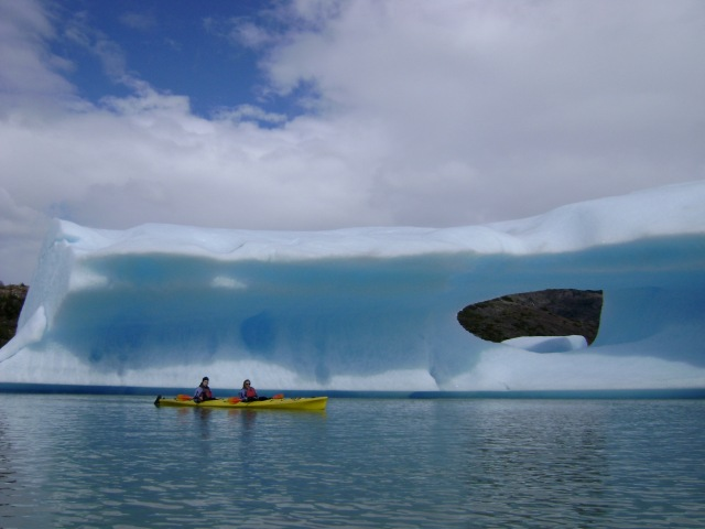 Kingston Family Vineyards-Sea Kayakers and glacier
