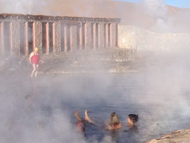 Atacama_soaking in hot springs after a hike