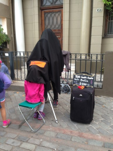A puppet show in Valparaiso