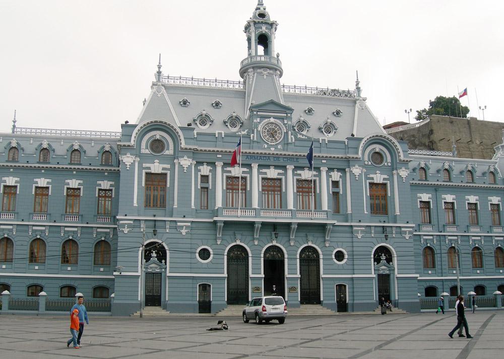 The Armada de Chile in Plaza Sotomayor Valparaiso
