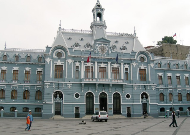 The Armada de Chile in Plaza Sotomayor Valparaiso