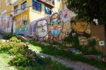 Three-Portrait-Rainbow-Mural-in-Valparaiso