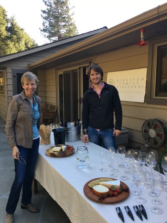 Amael with Courtney at last week's club tasting in Portola Valley
