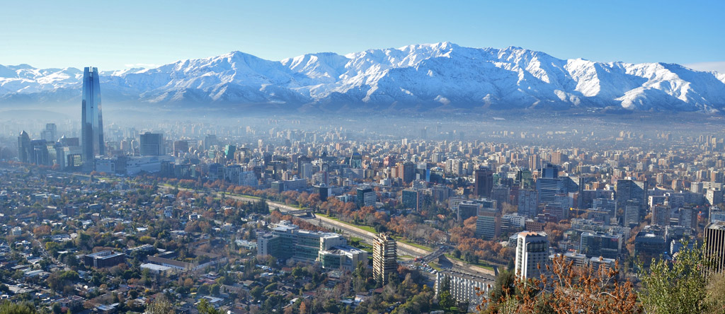 A view over Santiago from Cerro San Cristobal