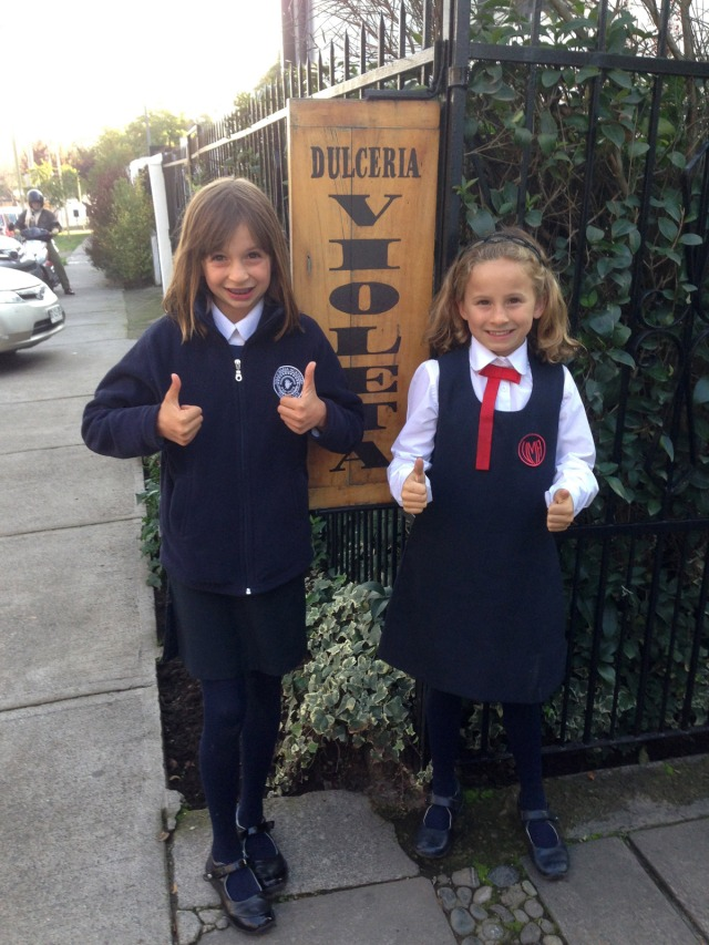 Kingston Family girls at Dulceria La Violeta in Santiago Chile