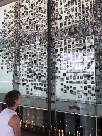 Courtney Kingston at the Museo de la Memoria in Santiago Chile
