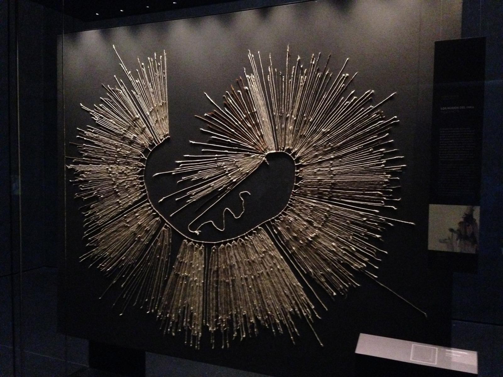 a Quipu at the museo de arte precolombiano in Santiago Chile