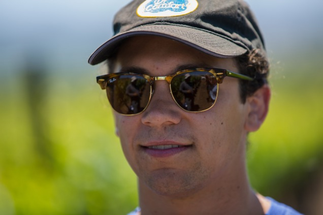 Ben Culver in the vineyards with our vineyard team